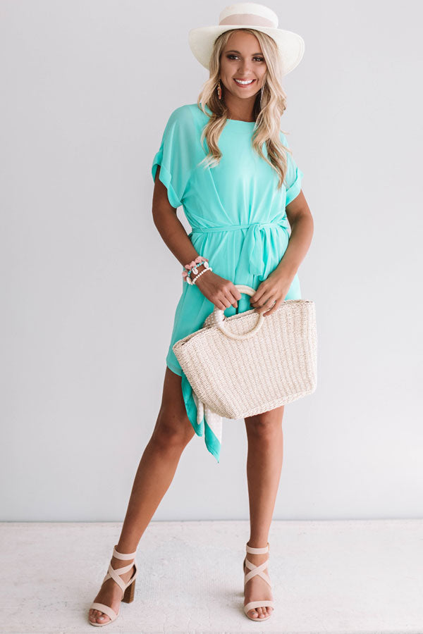 Date Night With You Shift Dress In Ocean Wave