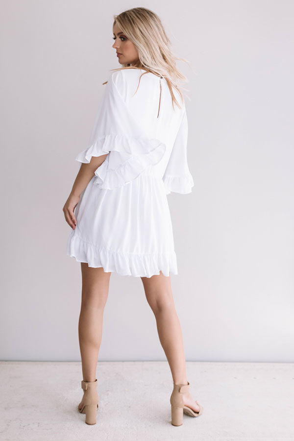 Sunshine Swing Shift Dress in White