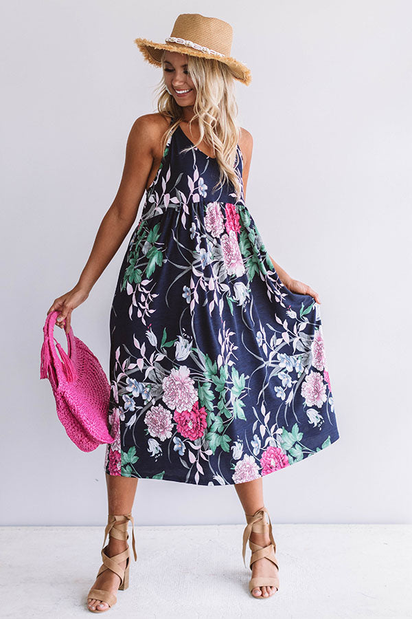 Honolulu Lovely Floral Midi