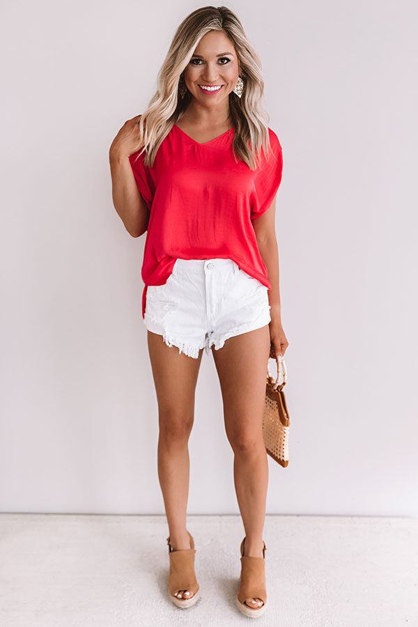 Pina Colada Paradise Shift Top In Raspberry