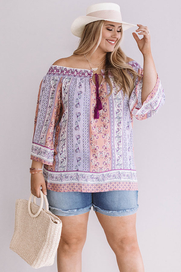 Getaway To Greece Shift Top in Lavender