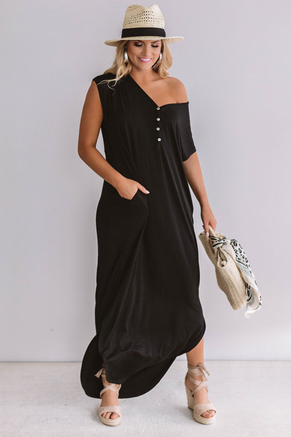 Baja Bliss T-Shirt Maxi In Black