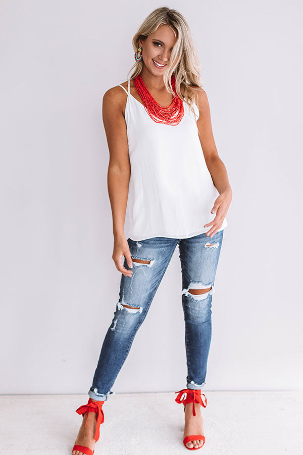 Caribbean Cruise Shift Tank In White