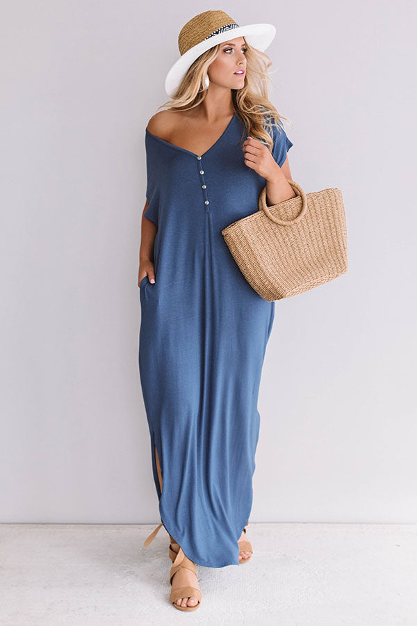 Baja Bliss T-Shirt Maxi In Riverside