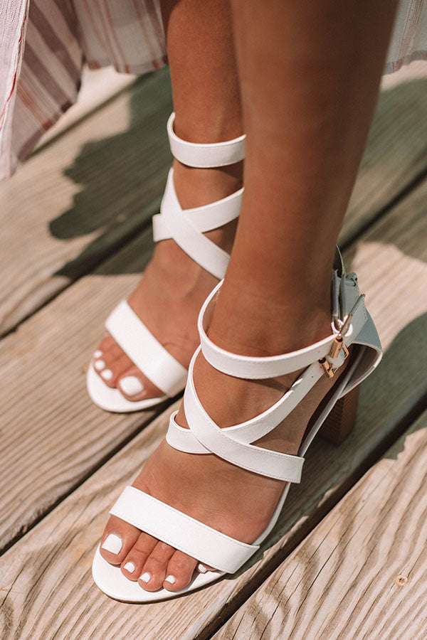 The Caylie Heel in White