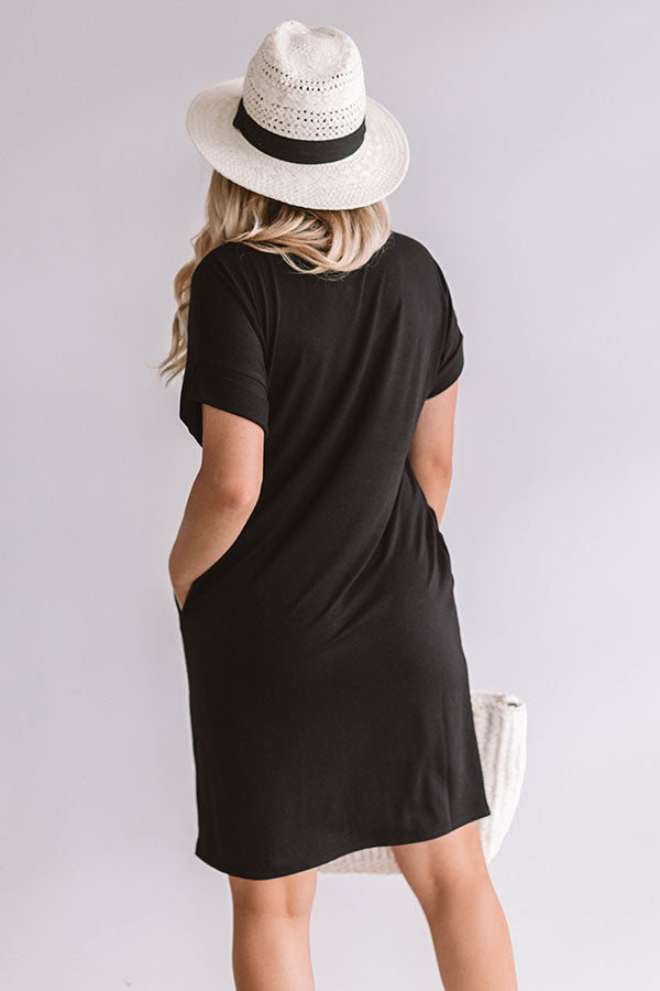 Macarons In Manhattan T-Shirt Dress In Black