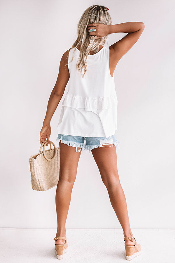 Tampa Bay Bliss Babydoll Tank in Ivory