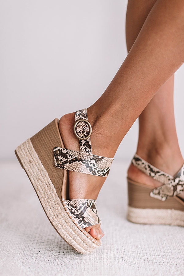 The Darrian Snake Print Wedge