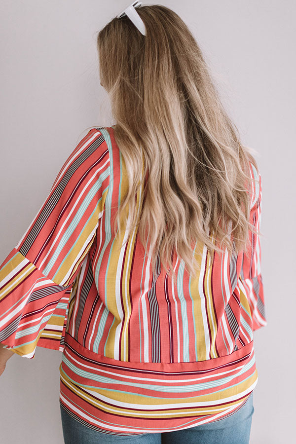 Daiquiri Delight Stripe Top
