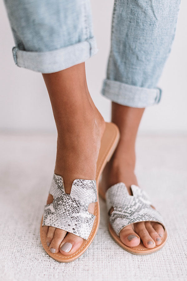 The Ella Snake Print Sandal