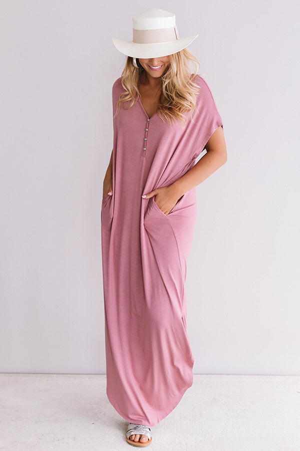 Baja Bliss T-Shirt Maxi In Blush