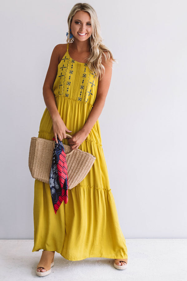Sandbar Party Embroidered Maxi
