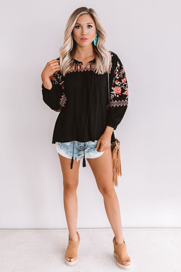 Dreaming Of Love Embroidered Top