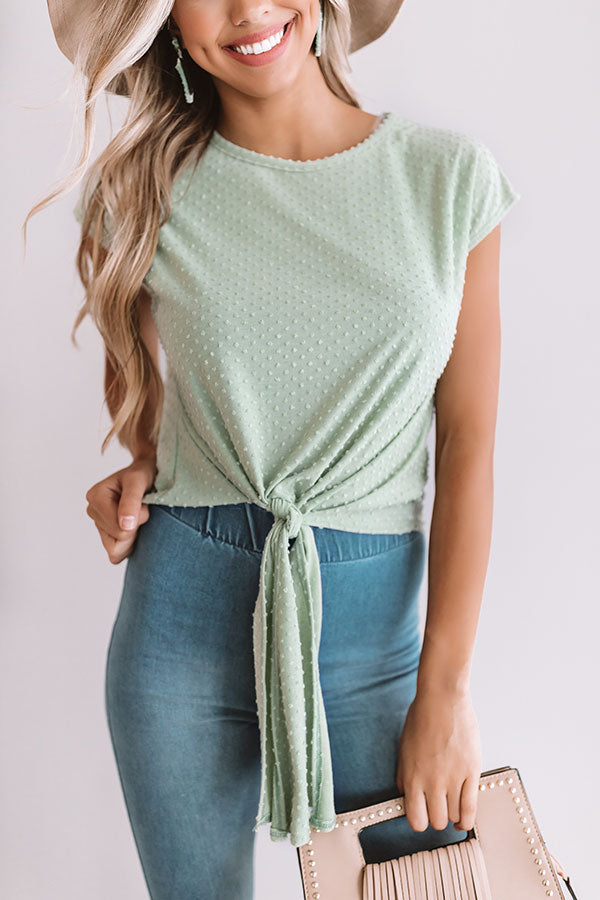 Touring Paradise Tie Top In Sea Glass