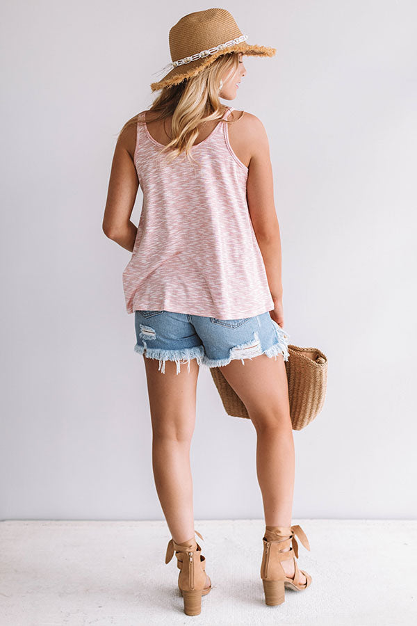Under The Sun Shift Tank In Blooming Dahlia