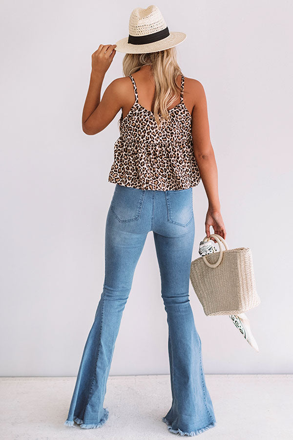 Feeling Bubbly Leopard Tank