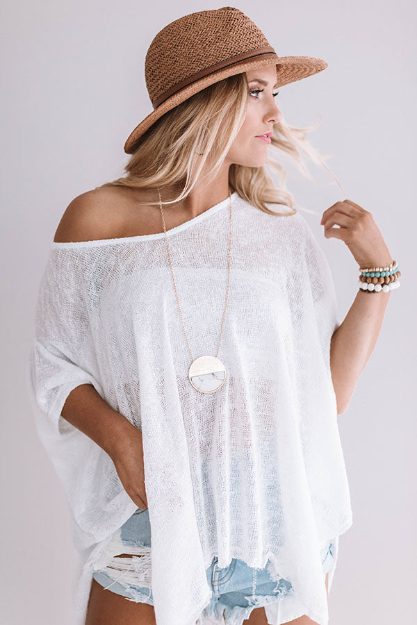 The Bright Side Necklace in White