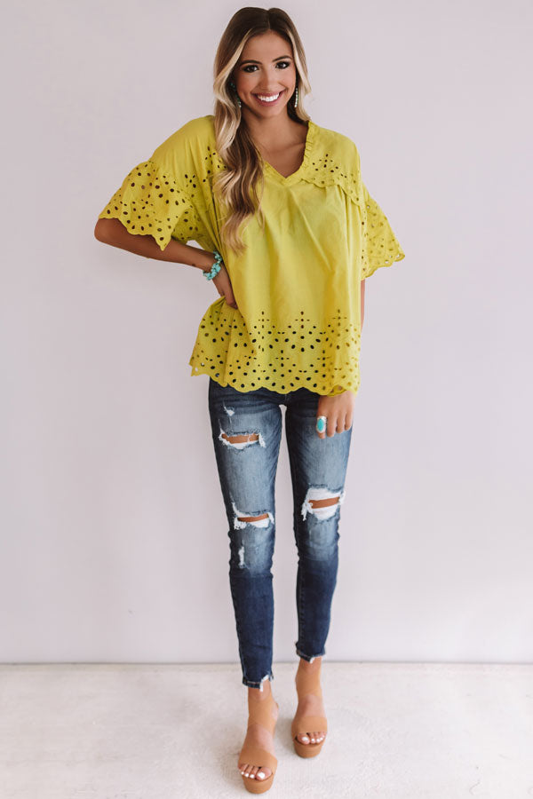 Bay Breeze Eyelet Top