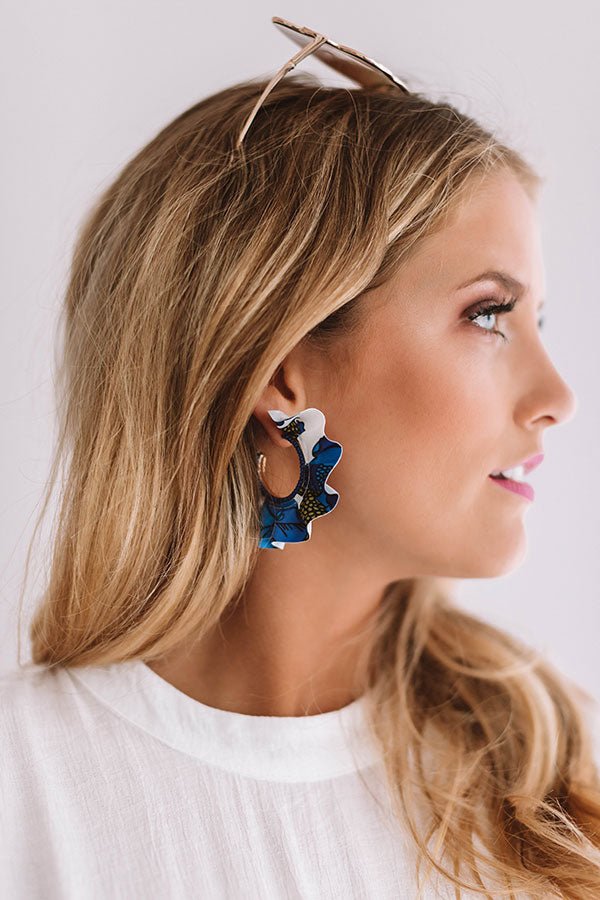 Mojitos in Mexico Earrings in Royal Blue
