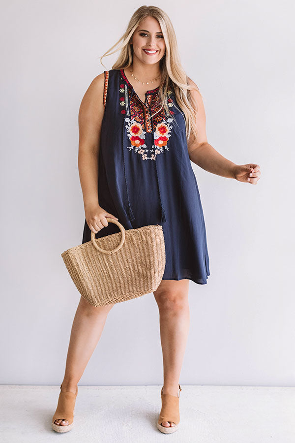 Paradise Cove Embroidered Shift Dress