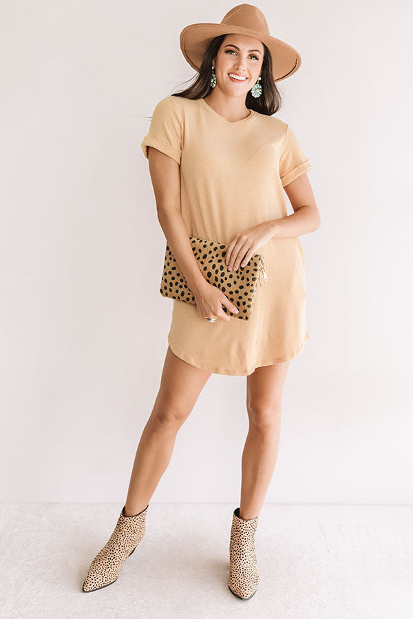New Adventure T-Shirt Dress In Golden Honey