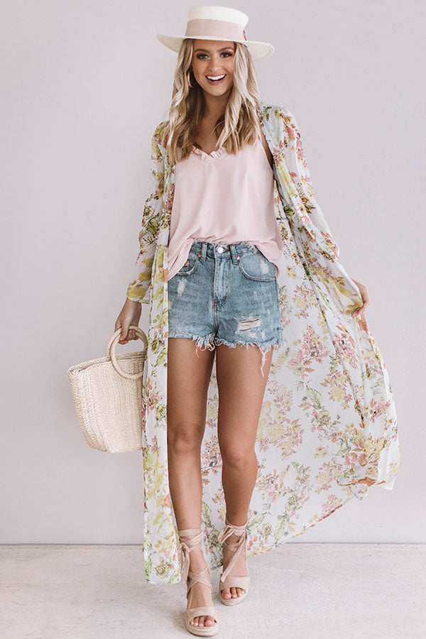 Romance in Rome Floral Duster
