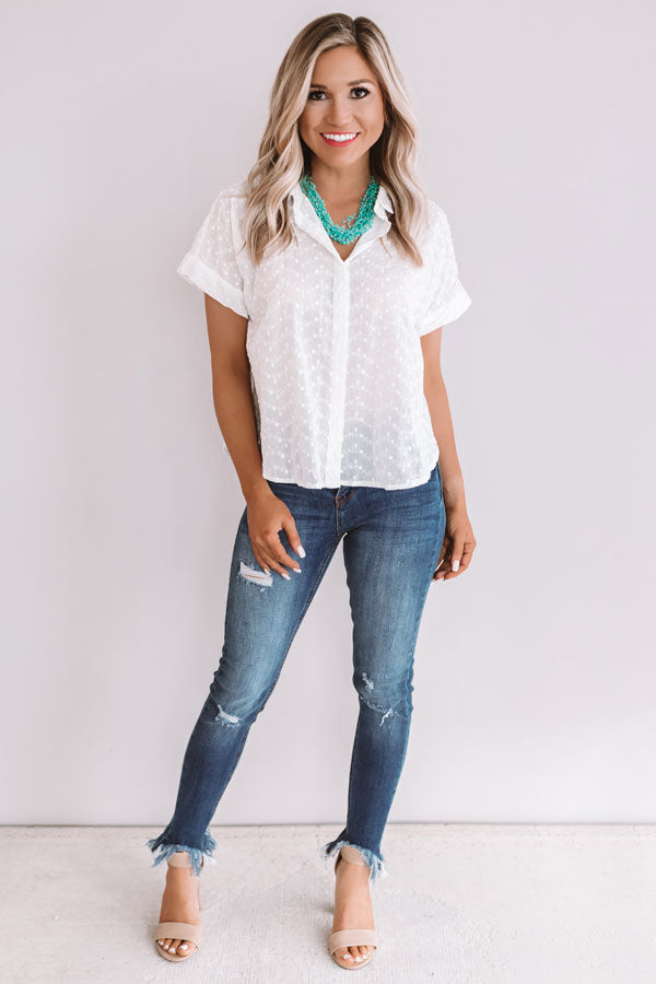 Memorable Moments Eyelet Top