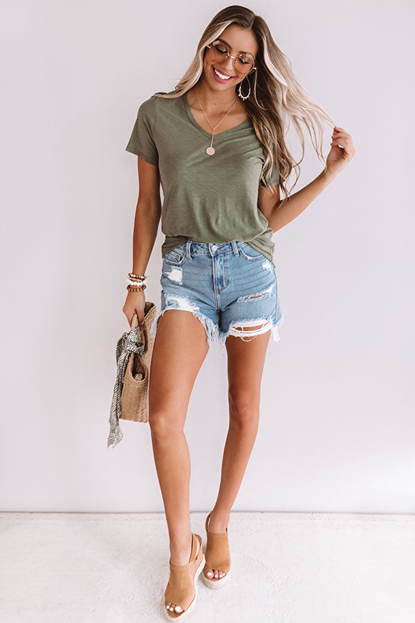 Popsicles Poolside Tee In Olive