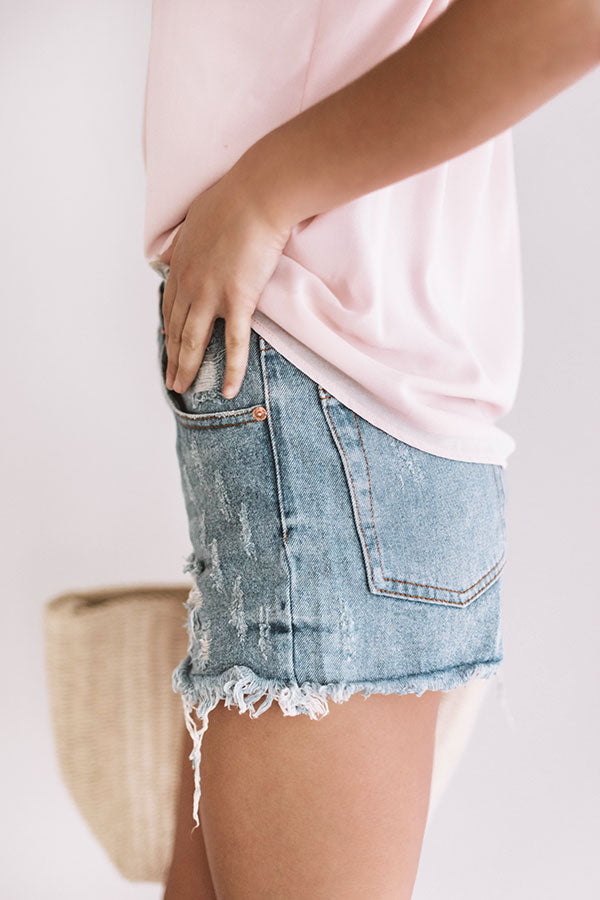 The Holden High Waist Distressed Shorts
