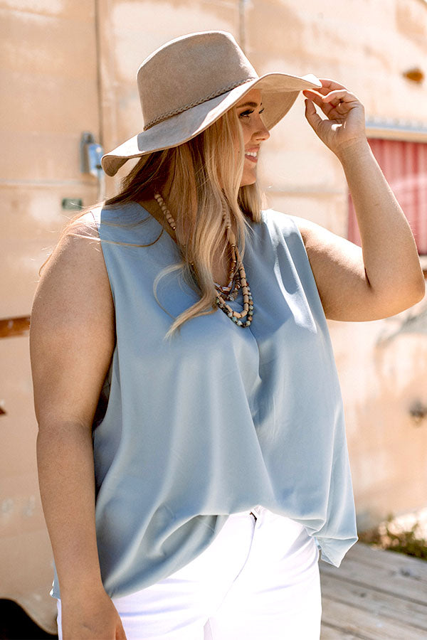 Sweet Summer Shift Top In Airy Blue