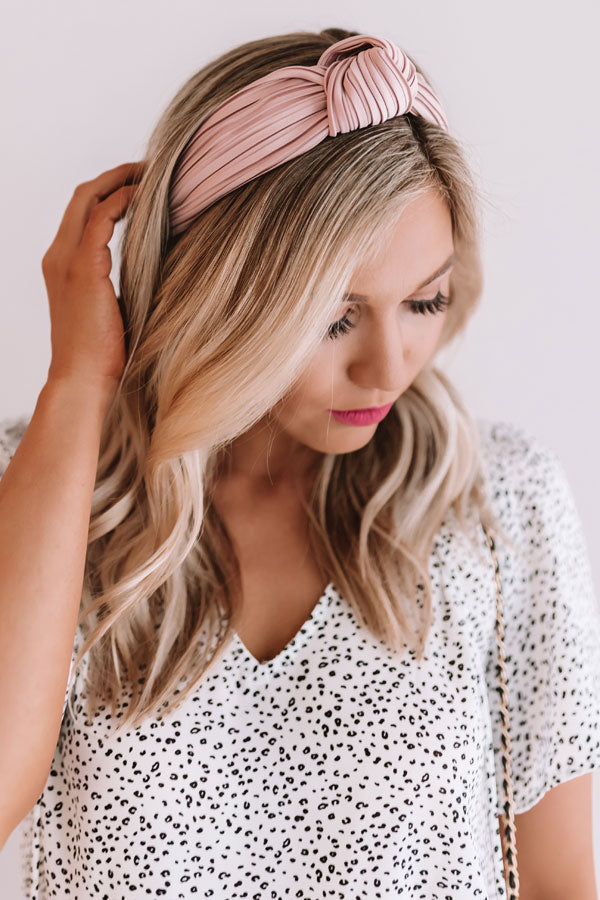 All Caught Up Headband in Blush