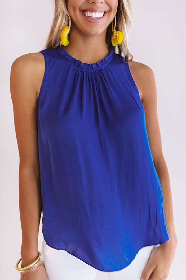 Vino In Versailles Shift Top in Royal Blue
