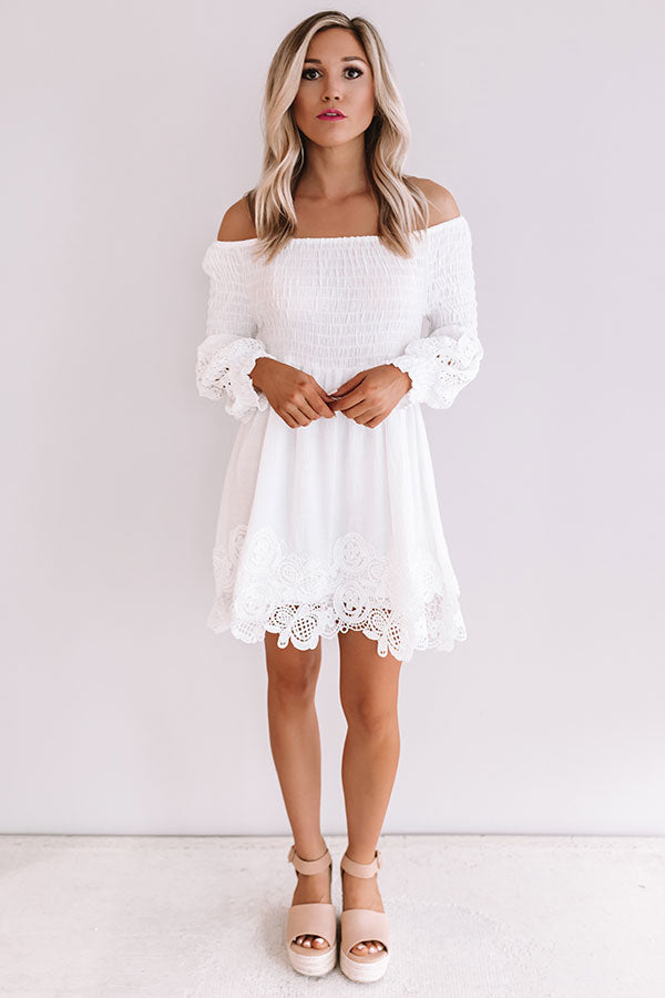 Greek Isle Getaway Smocked Crochet Dress
