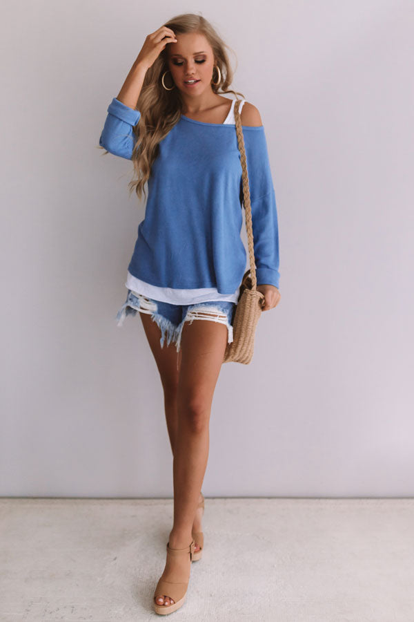 Best Of The Best Knit Sweater In Airy Blue