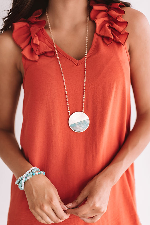 The Bright Side Necklace in Turquoise