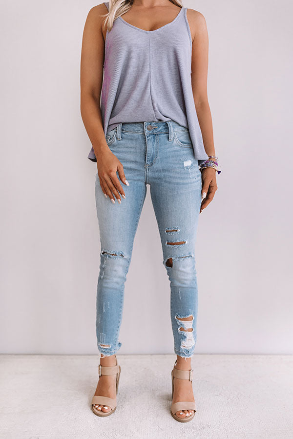 Winter Park Midrise Distressed Skinny in Light Wash