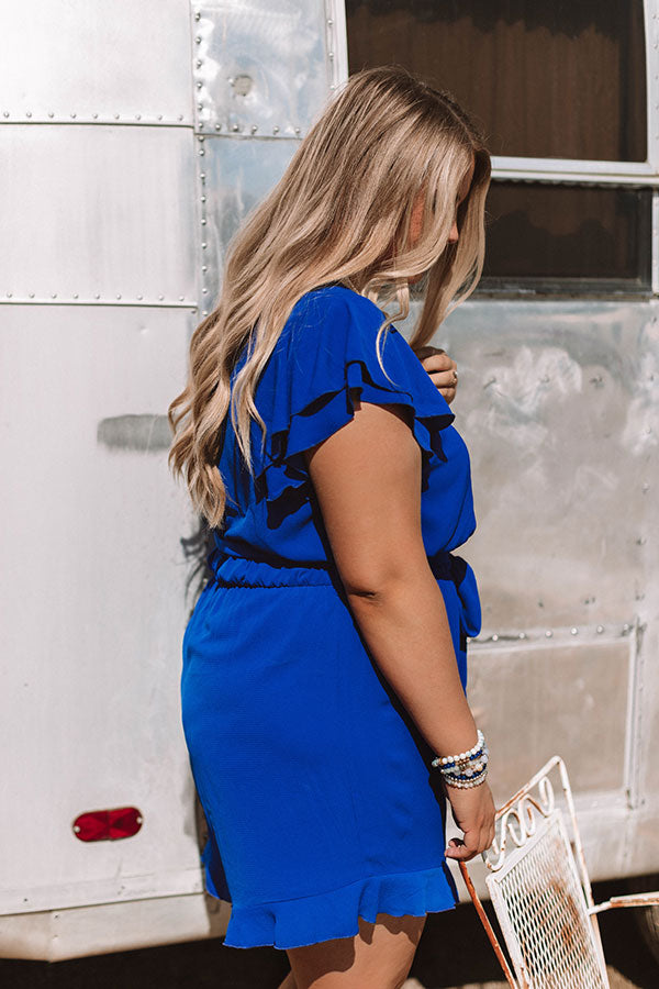 Perks of Paradise Romper in Royal Blue