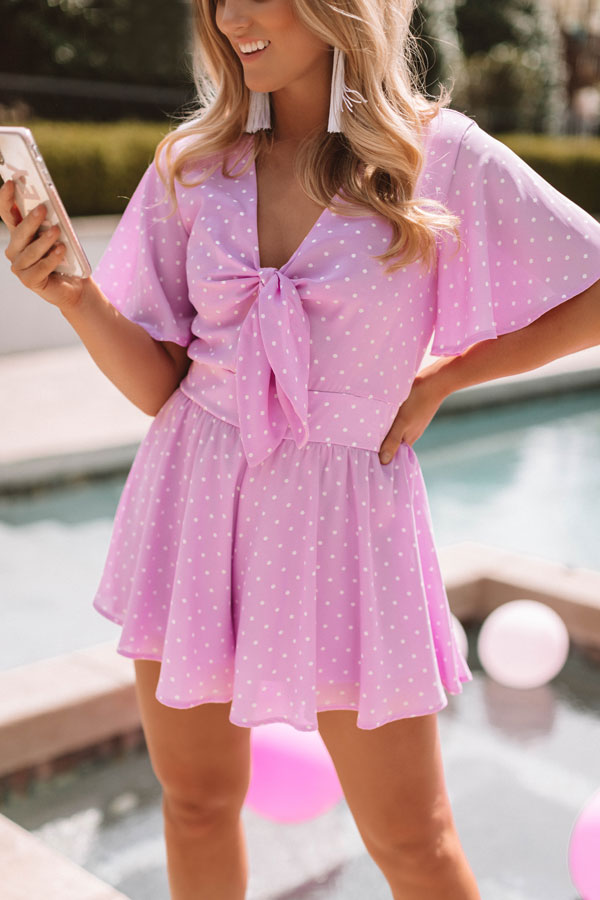Highway to Happiness Polka Dot Romper