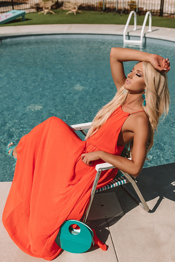 A Forever Kind Of Love Maxi In Tangerine