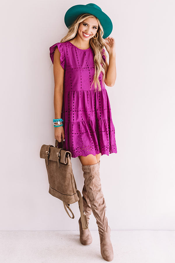 Florence Views Eyelet Dress in Orchid