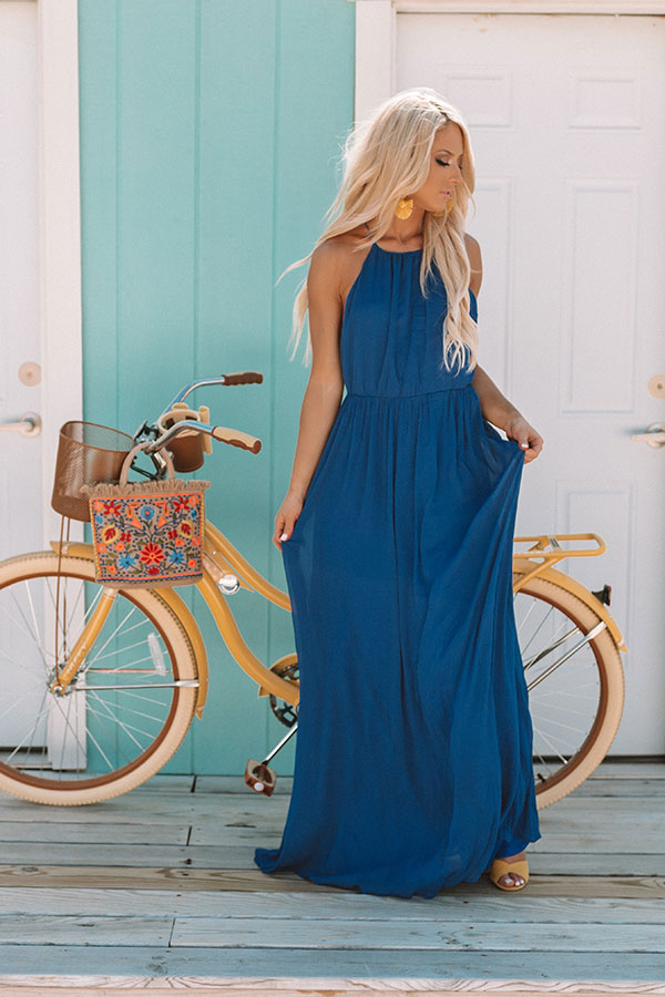 A Forever Kind Of Love Maxi In Royal Blue