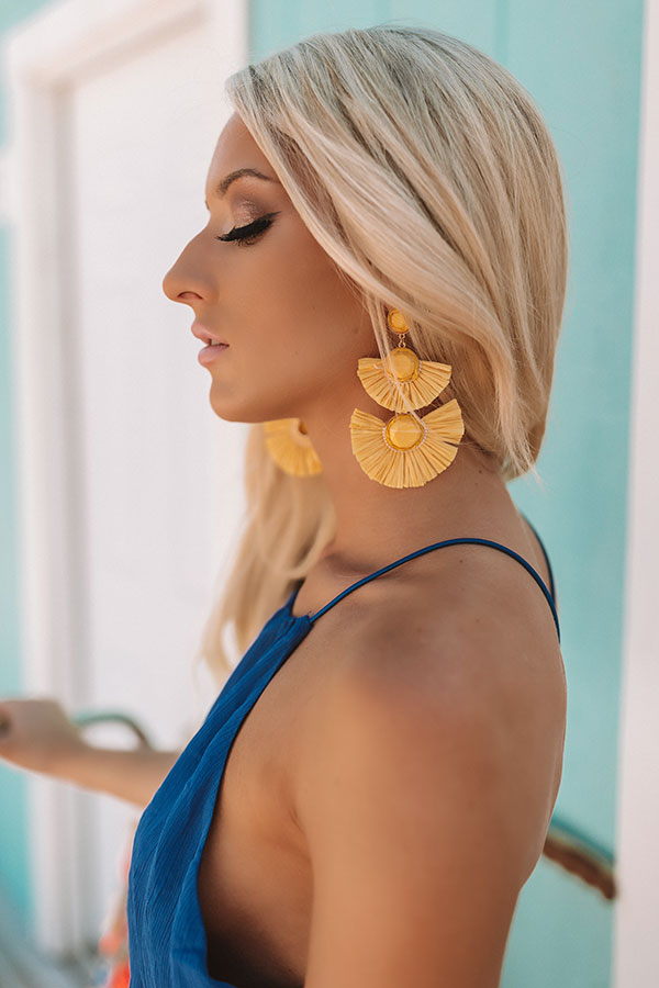 Made For Maui Earrings In Yellow