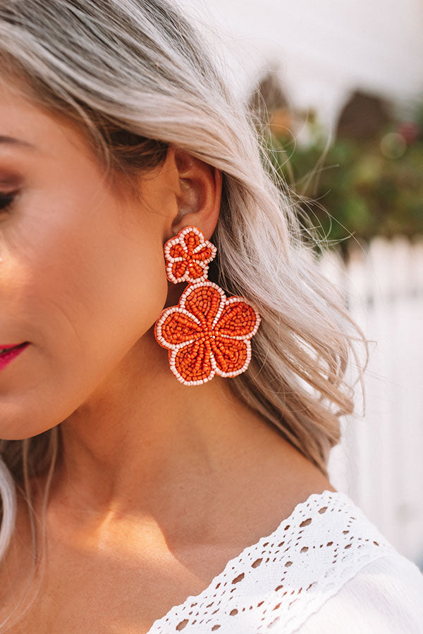 Lagoon Luxe Earrings In Orange