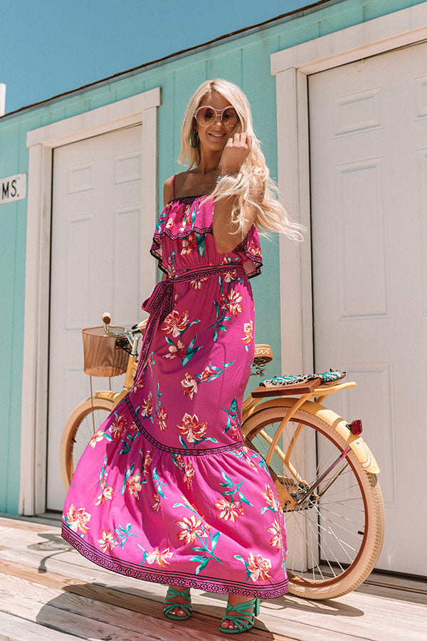 Peace, Love, and Luaus Floral Maxi