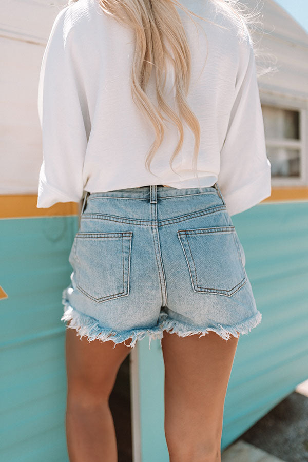 The Lainey High Waist Distressed Shorts