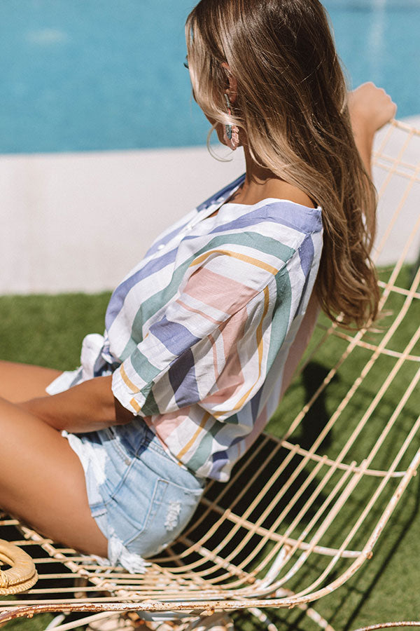 Striped Delights Tie Top