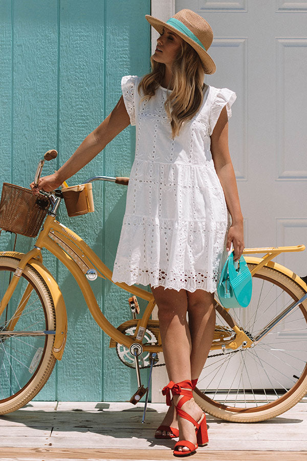 Florence Views Eyelet Dress in White