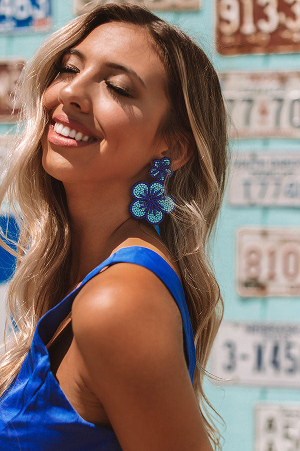 Lagoon Luxe Earrings In Blue