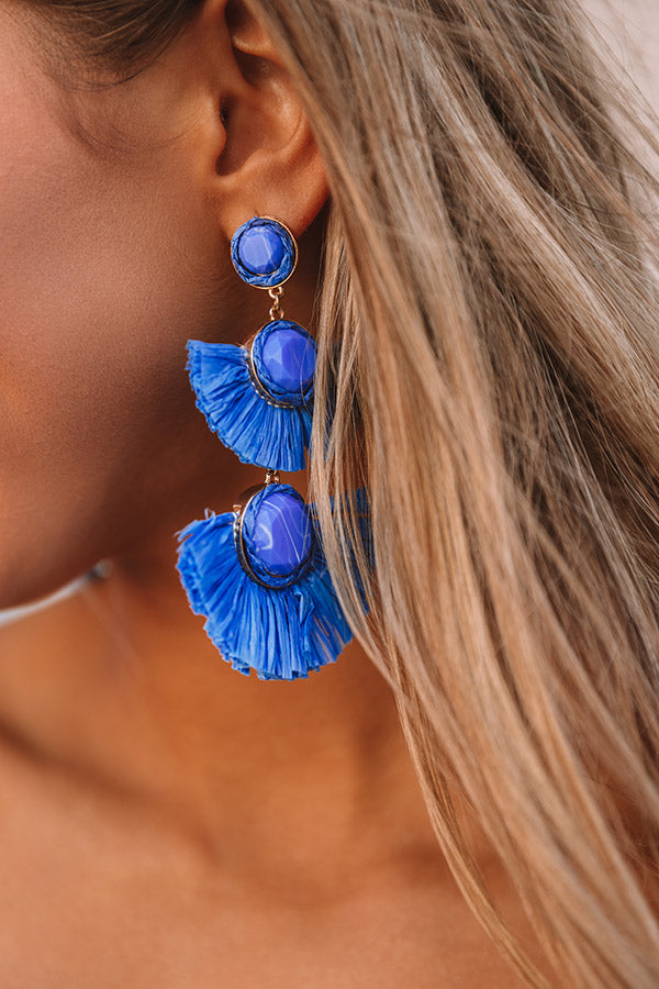 Made For Maui Earrings In Ocean Blue