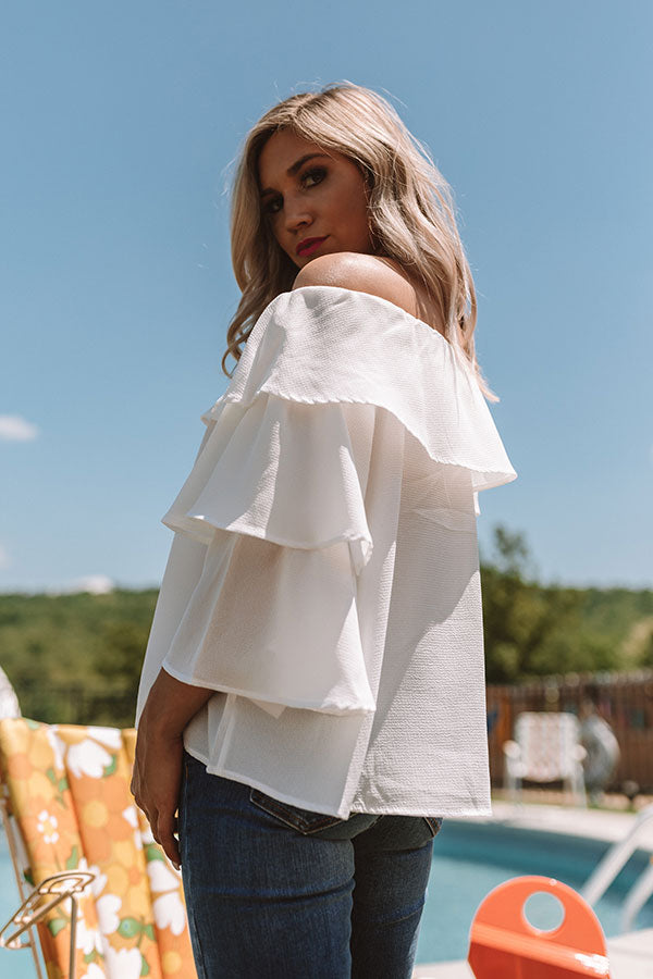 Maui Magic Off Shoulder Top In White